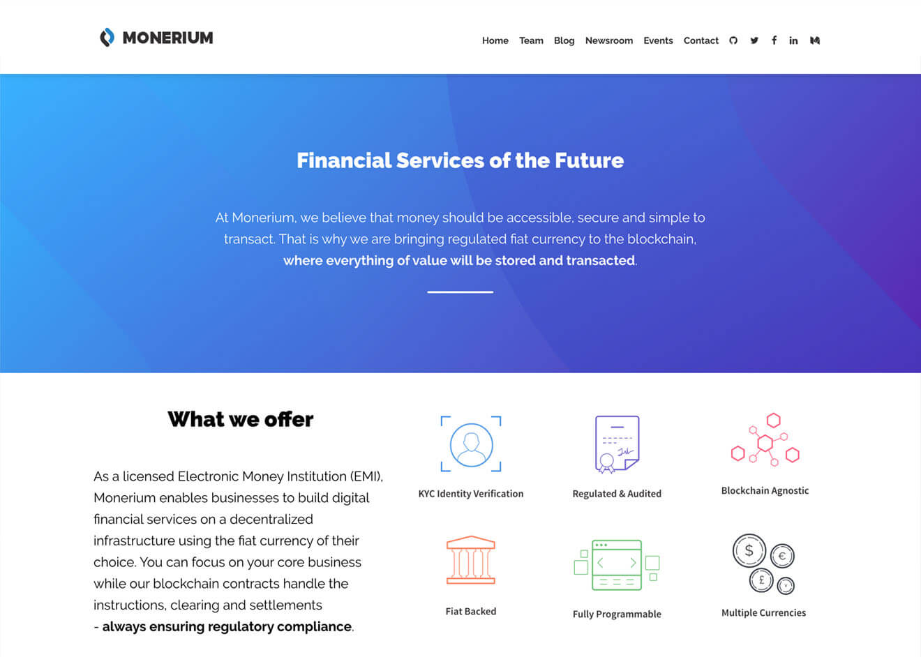 Monerium Website